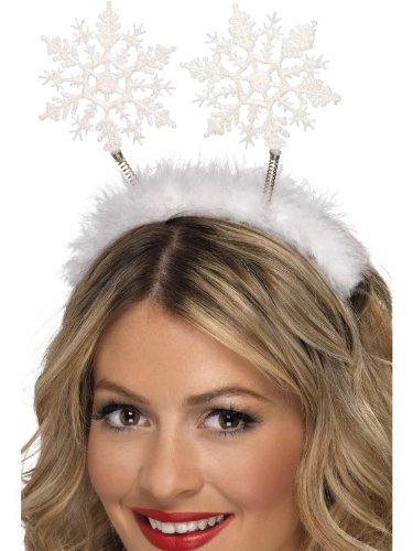 Ideen Weihnachten Party Kostüme (Smiffys, Damen Schneeflocken Haarreif, One Size, Weiß,)