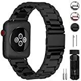 Fullmosa Kompatibel Apple Watch Armband 38mm(40mm Series 4), Rostfreier Edelstahl Watch Ersatzband für iWatch/Apple Watch Serie 4 Serie 3 Serie 2 Serie 1,38mm(40mm) Schwarz