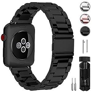 Fullmosa Kompatibel Apple Watch Armband 42mm und 38mm, Rostfreier Edelstahl Watch Ersatzband für iWatch/Apple Watch Serie 3 Serie 2 Serie 1