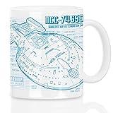 style3 NCC-74656 Voyager Motivtasse trek trekkie blaupause