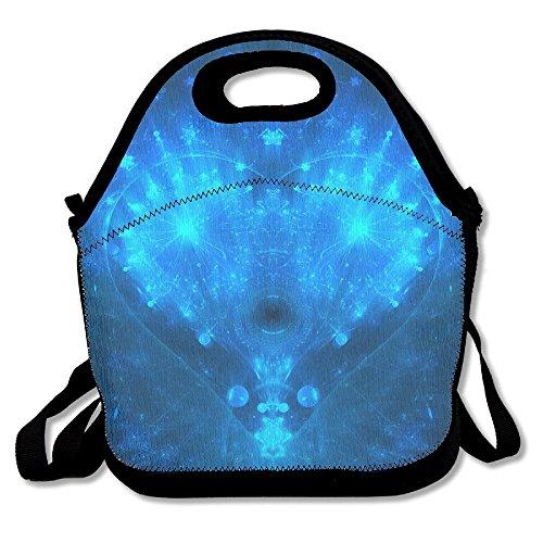 kkwodwcx azul abstracto corazón con aislamiento bolsa para el almuerzo Bolsas de picnic Gourmet bolsas de almuerzo reutilizables para trabajo de la escuela-mejor bolsa de viaje