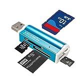 SAWAKE Universaler All in 1 USB Multi-Kartenleser Speicherkartenleser Fuer Micro SD MMC SDHC TF M2 Memory Stick