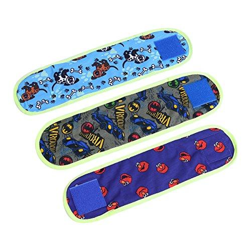 TiaoBug 3 Piezas Pañales Lavables para Perro Cachurros Hembra/Macho Sin Entrenamiento Envolturas Banda de Vientre Braguitas Sanitarias Mascotas Verde 11 * 37CM