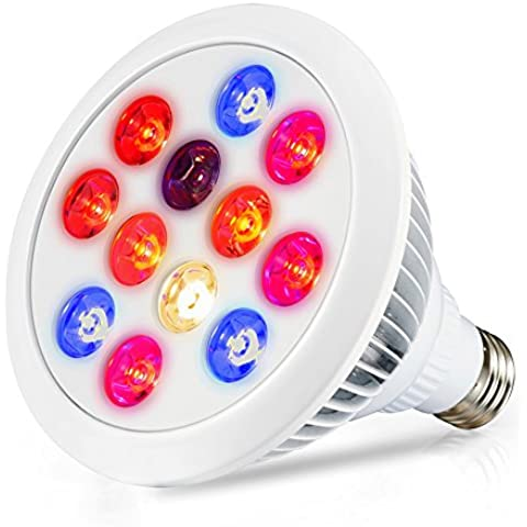 LED Grow Light, Swiftrans 12W Full Spectrum alta efficienza pianta