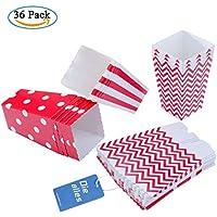 Diealles 36PCS Mini Caja de Fiesta de Palomitas Contenedor de Dulces para Los Bocados del Partido