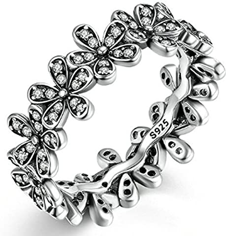SaySure - 925 Sterling Silver Dazzling Daisy Meadow (SIZE : 6)