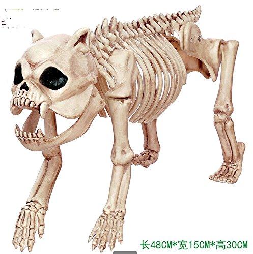 ChengBai Halloween Dekoration Tier Skelett sub-Bar bietet in Requisiten emulation Hund Knochen Modell Ratten, Spinnen, Haustiere ohne Beleuchtung