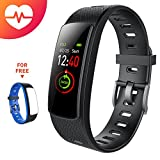i6HRC Fitness Tracker iWOWNFit Farbdisplay Fitness Armbanduhr Smart Band mit Pulsmesser, Schlafmonitor, Smart Armband Pedometer mit Ersatzband für iOS & Android
