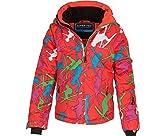 Bergson Kinder Skijacke Ricky, Orange/Green Allover [5204], 98 - Kinder