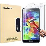 [3 Stück] MaxTeck Gehärtetem Glas Panzersglas Hartglas Displayschutz für Samsung Galaxy S5 9H Härte, Anti-Kratzen, Anti-Öl, Anti-Bläschen