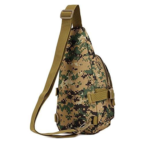 Outdoor-Reisen Männer und Frauen kleiner Kasten Tasche Reit Rucksack Tasche Nylon 18 * 34 * 10cm 7
