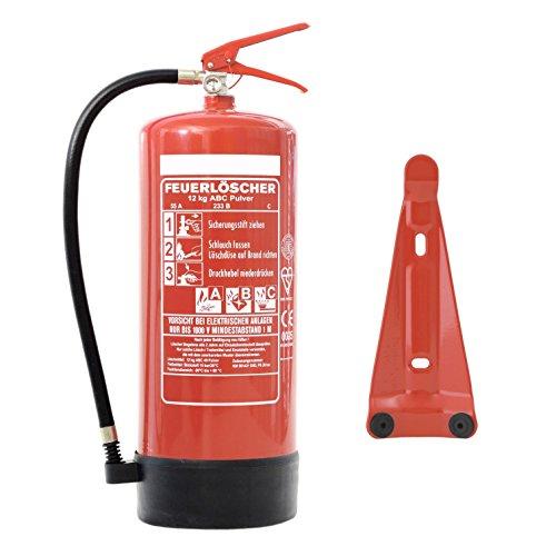 Preisvergleich Produktbild Feuerlöscher 12kg ABC Pulverlöscher EN 3 inkl. ANDRIS® Prüfnachweis