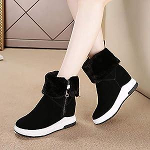 BYUYAN Stiefel Schnee Stiefel Damen Winter Dicke warme Stiefel der Aufstieg und Vielseitige Video dünne Baumwolle Stiefel
