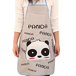 Cooking Kitchen Aprons, Gaddrt Cute Cartoon Kitchen Waterproof Apron Cooking Bib Apron (Grey)