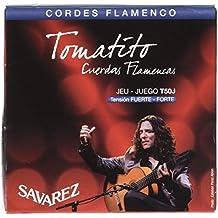 Savarez 656367 - Cuerdas para Guitarra Clásica Flamenco juego T50J Tensión alta, azul