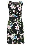 Anna Field Etuikleid für Damen - Kleid mit Cache Coeur Ausschnitt - Blumenkleid schwarz in Größe 42