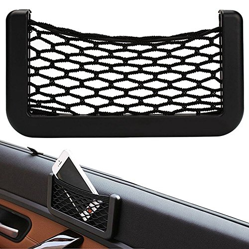 Car Net Bag Car Organizer Nets 15X8cm Automobil Taschen mit Adhesive Visor Car Bag