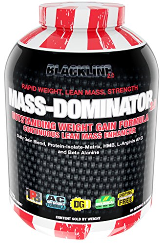BlackLine 2.0 Mass Dominator Weight Gain Formular Daily Gain Blend Protein Isolate Eiweiß HMB L-Arginine Beta Alanine 3628g