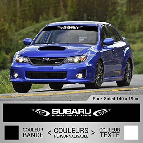 Subaru Rennen Rennsport Rallye Blendstreifen 130 cm. Aufkleber ohne Hintergrund von SUPERSTICKI® aus Hochleistungsfolie für alle glatten Flächen UV und Waschanlagenfest Tuning Profi Qualität Auto KFZ Scheibe Lack Profi-Qualität