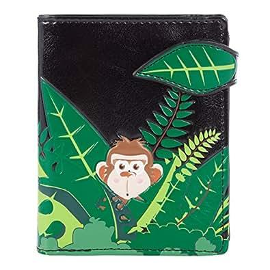 Shagwear Junge-Damen Geldbörse, Small Purse: Verschiedene Farben: (Affe Schwarz/ Swinging Monkey)