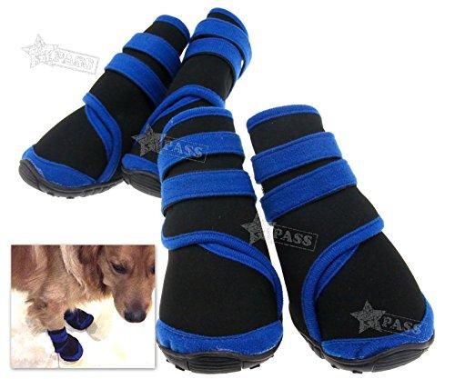 Generic Oot Schuhe Schutz gepolsterten Tragegurt Hund Wasserdicht Schuhe 4rutschfeste G WA Regen Stiefel Winter Farbe: zufällige nisex Pet Hund Unisex Haustier
