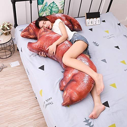 YOUHA 1 stück 110 cm Große Größe Spielzeug Schwein Füße Plüschtier Nette Sleepping Bett Kissen Weiches Kissen Stoff Weich Für Kinder