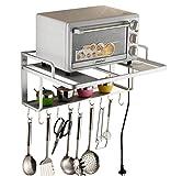 Estanterías para horno microondas, soporte de pared de almacenamiento para la cocina