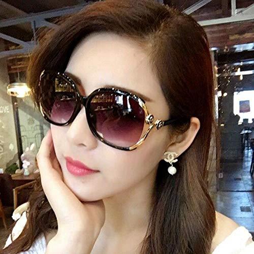 CYCY Sonnenbrille Sonnenschutz für Frauen UV-Schutz Großer Rahmen Rundes Gesicht Gesicht Kleine Sonnenbrille Elegante Kamelienbrille für Frauen - Schwarz-9825, Modelle - Schwarz-9825