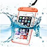 Sac Waterproof Orange pour SAMSUNG GALAXY A3 2017 A3 2016 A3 2015 A5 2017 A5 2016 A5 2015 A7 A8 2018 Alpha Core Prime Grand 2 Grand Max Grand Prime Grand Plus J1 2015 J1 2016 J3 2016 J3 2017 J5 2015 J5 2016 J5 2017 J7 2016 J7 2017 Note 1 Note 2 Note 3 Note 3 Lite Note 4 Note Edge NOTE 8 S2 S3 S4 S5 S6 S7 S3 Mini S4 Mini S5 Mini S6 Edge S6 E - Coque Housse Etui Universel Boitier Pochette Lumineux Protection Tactile Souple Plastique Imperméable Etanche Protège Eau Sable Terre Poussière Phonillico