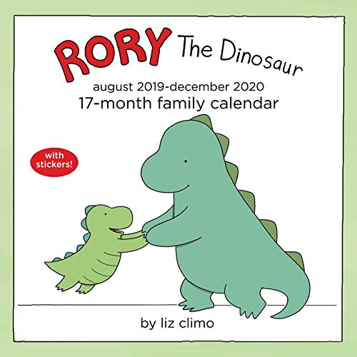 Rory the Dinosaur 2019-2020 Square Family Calendar