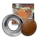 Logicstring Antihaft-rauchfreier Innenkocher-Spitzenbeschichtungs-Stahlgrill-Grill-tragbares Backblech-gesunde Küche, die Werkzeug kocht