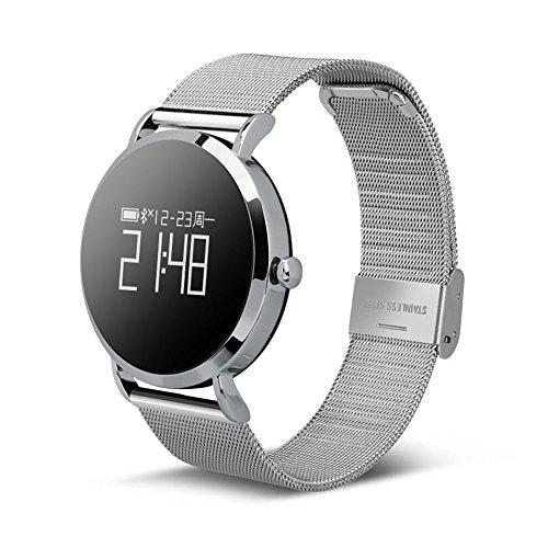 KAIDILA Fitness-Tracker, Fitness-Uhr, Activity Tracker Herzfrequenz-Monitor mit Schlaf-Monitor mit Schrittzähler und Wasserdicht für K Ids Frauen Männer anrufen SMS für Android Oder IOS Smartphones