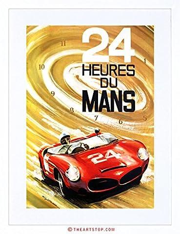 AD 24 HEURES DU MANS RACING CAR AUTOMOBILE CLASSIC FRAMED PRINT F12X2086