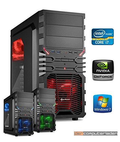 dercomputerladen Gamer PC System Intel, i7-4790K 4x4,0 GHz, 16GB RAM, 2000GB HDD,...