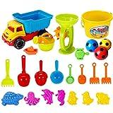 Strandspielzeug BANDRA 21 Stück Sandformen Set Sandspielzeug Sandkasten Set mit...