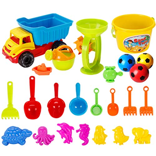 Football Plastic Knobby Kid Educational For Mesh Kids Sand Toys 21 Inflatable Set Bag Color Beach Pieces With Inch RandomDiameter Toy 6 80wnkOXP