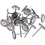 18Pcs Steel Wire Wheel Brushes For Dremel Die Grinder Or Rotary Tools