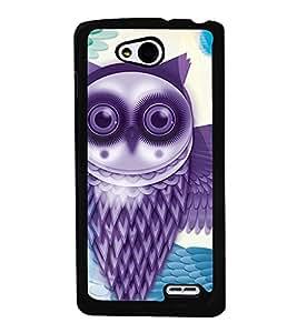 Purple Owl 2D Hard Polycarbonate Designer Back Case Cover for LG L90
