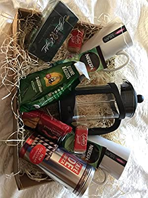 luxury coffee hamper, coffee gift set for two, cafetiere by Cheshire Hampers