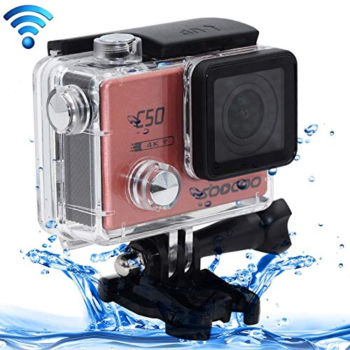 SOOCOO (# 33 C504K HD 2inch LCD Screen 12MP WiFi Sport Action Camera Camcorder with Waterproof Case, 170Degrees Wide Angle Lens, Supporto 64GB Micro SD Card, HDMI Output (Pink)