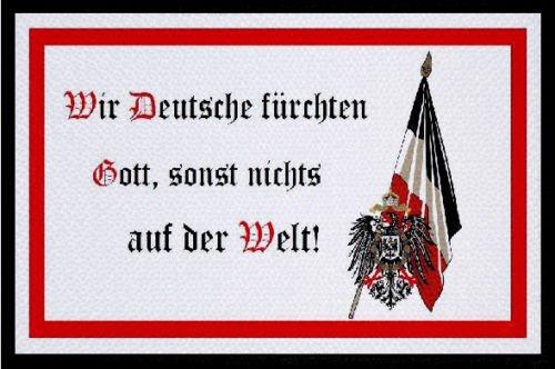 U24toppa bandiera dobbiamo temere Deutsche solo dIo, da 9x 6cm