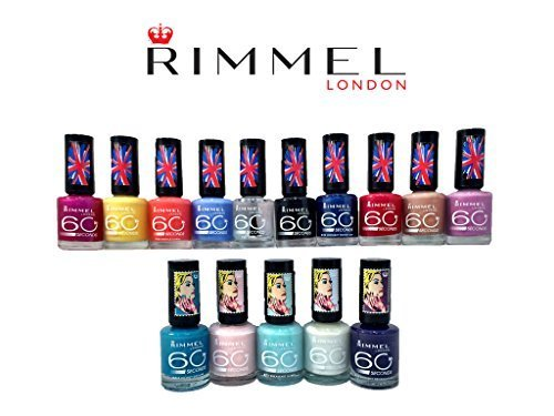 (15 Pack) Rimmel London 60 Seconds Finger Nail Polish Set 15-Piece Assorted Colors Collection by PayLessForRetail