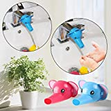 #5: Safe-O-Kid- Pack of 1 - Fit-All, Colorful Kid's Hand Washing Faucet Extender/Tap Extender- Blue