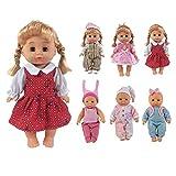 CZC GIFT Confezione da 6 Accessori per Vestiti Fatti a Mano Adorabili per Bebè per Bambole Bitty da 12-14 Pollici (30cm-35cm)