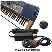ABC Products® Remplacement Casio DC 9V / 9 Volt Adaptateur Secteur Mur Cable (AD-5, AD-5E, AD-5MLE, AD-5MLE-TC1, AD-5MR, AD-5EL, AD-5MU, AD-5GL) pour Casio Synthesizers / Piano's / Keyboards / Clavier etc (modèles indiqués ci-dessous)