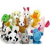 Hosaire Animales de la dedos títeres muñecos Soft accesorios juguetes - 10pcs (patrón aleatorio)