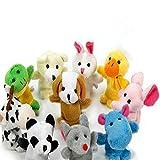 Cdet Plüsch Tiere Baby Kleine Tier Bauernhof Finger Marionette Spielzeug Stoff Kleinkind Spielzeug (10 Stück)