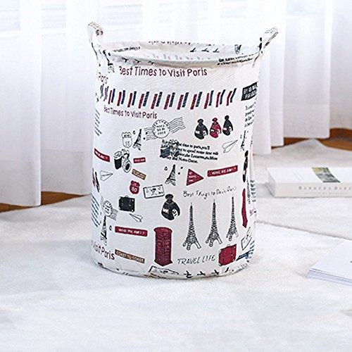 JAYLONG Großer Waschkorb 2 Pcs, Zusammenklappbare Stoff Wäsche, Faltbare Kleidertasche, Klapp Waschbär (9 Farben) Für Den Schul Schlaf Mit Zu Hause,G