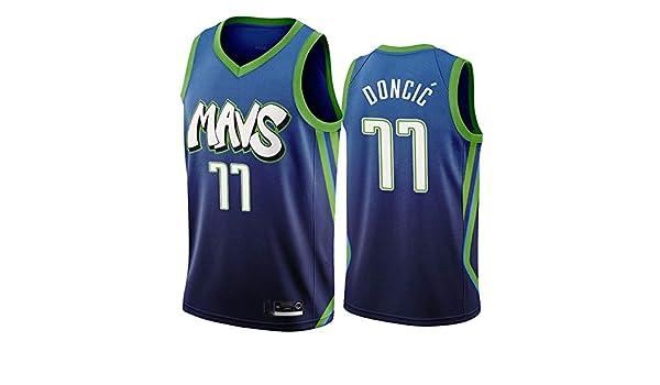 Maglia Luka Doncic Dallas Mavericks City Edition Swingman per Uomo S/&K Sport Maglia Luka Doncic Dallas Mavericks Verde