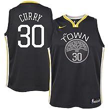 Nike NBA Golden State Warriors Stephen Curry SC30 2017 2018 City Edition Jersey Oficial Away, Camiseta de Niño